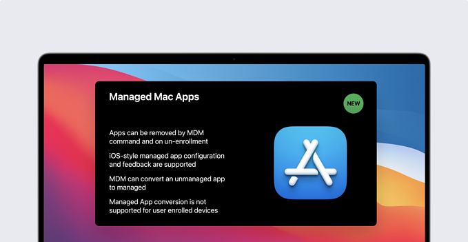 new managed apps on macos big sur