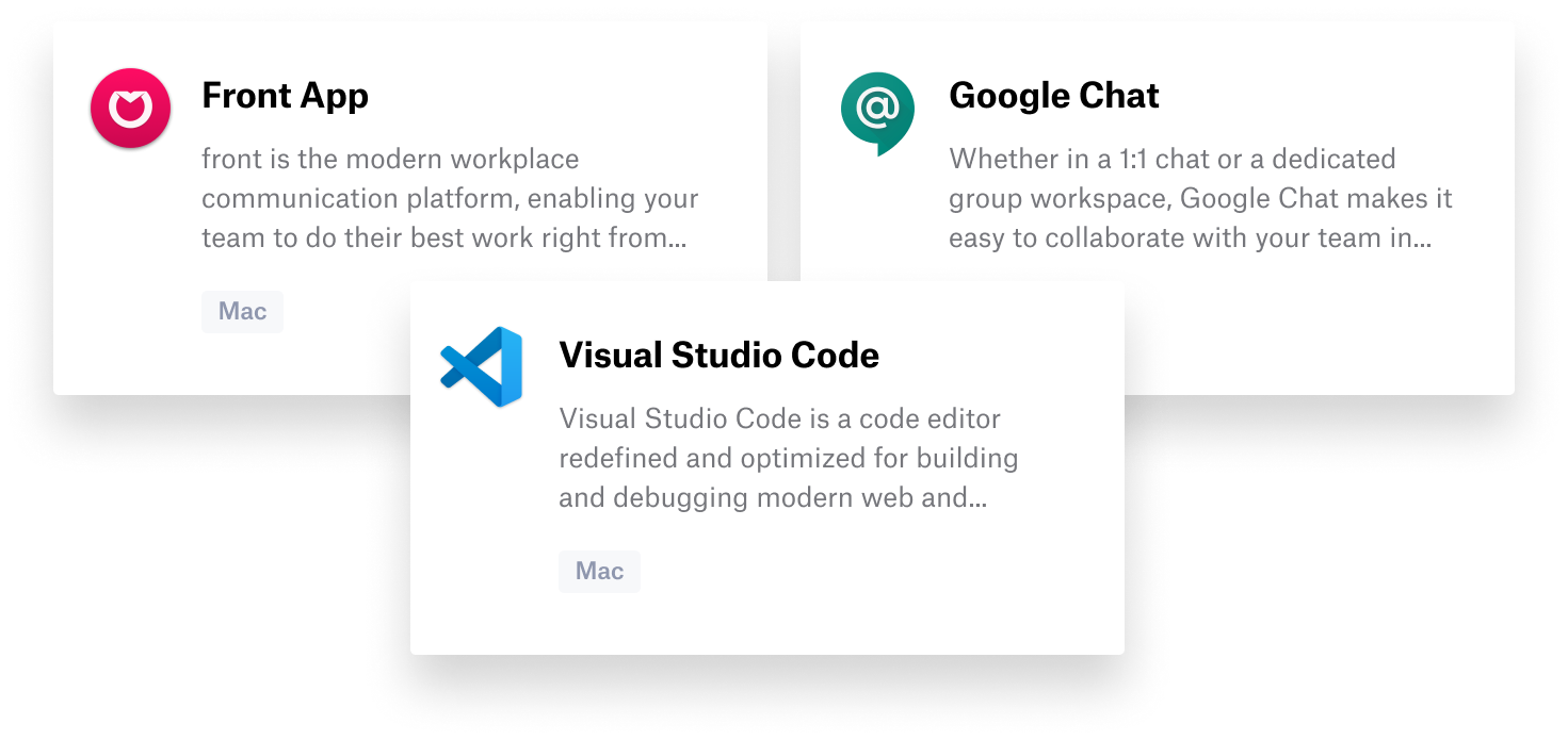 New auto apps front google vs code
