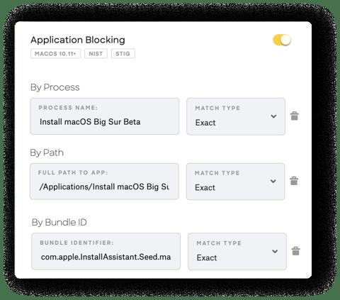 macos big sur ios 14 prevent beta updates application blocking