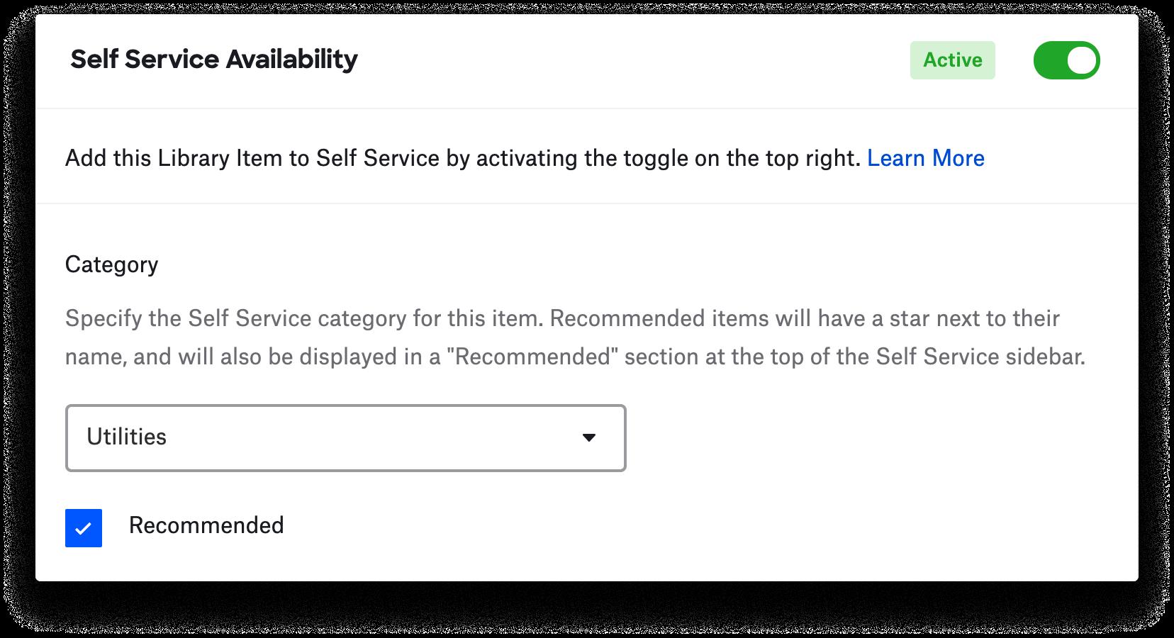 Adding a custom script to Self Service
