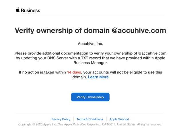 apple verify ownership of domain managed apple id-1