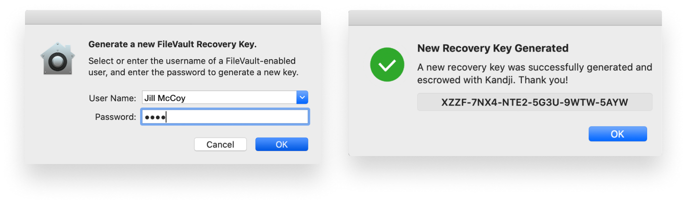 automatically regenerate filevault key-2