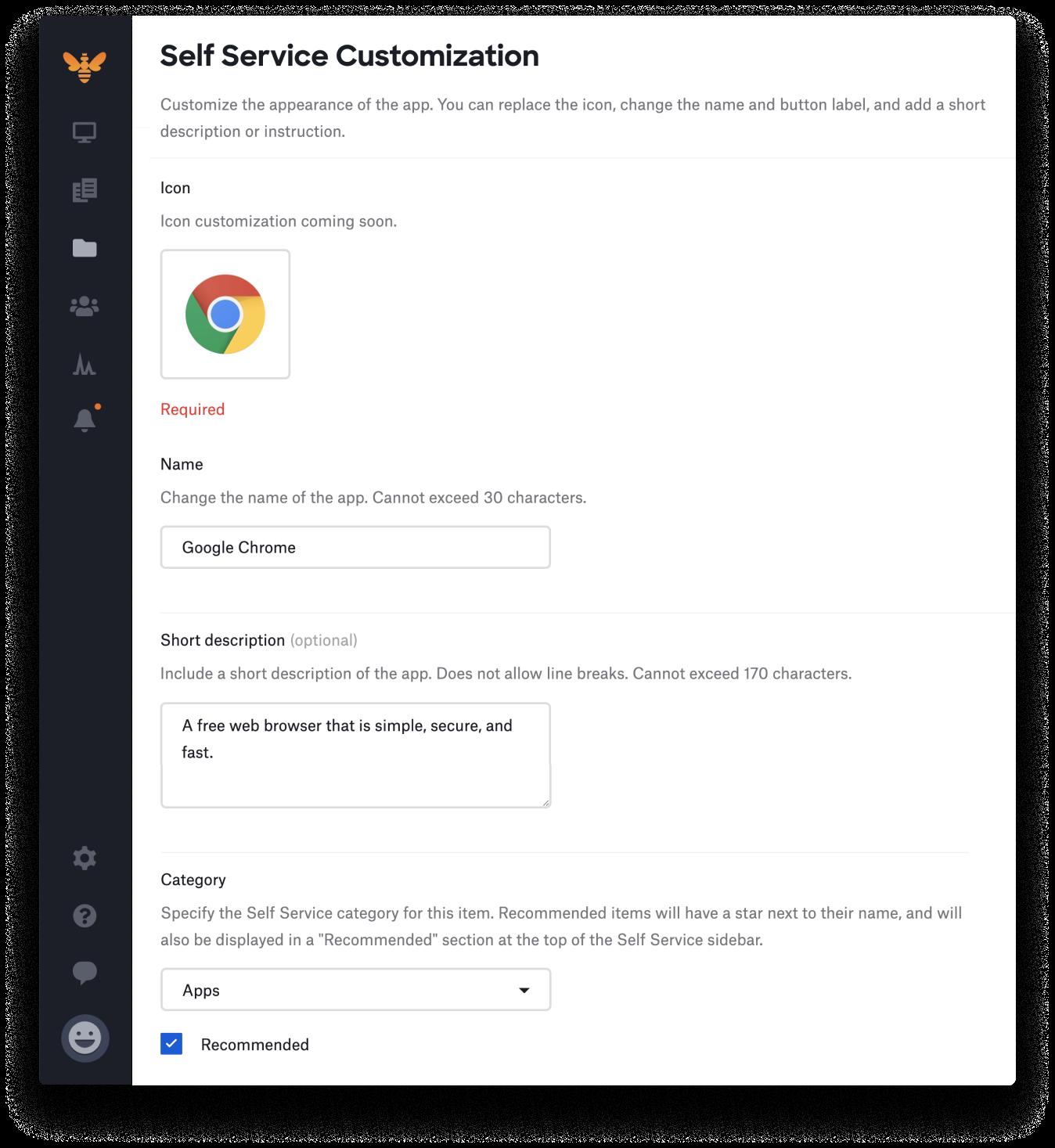 customize self service - app customization-1