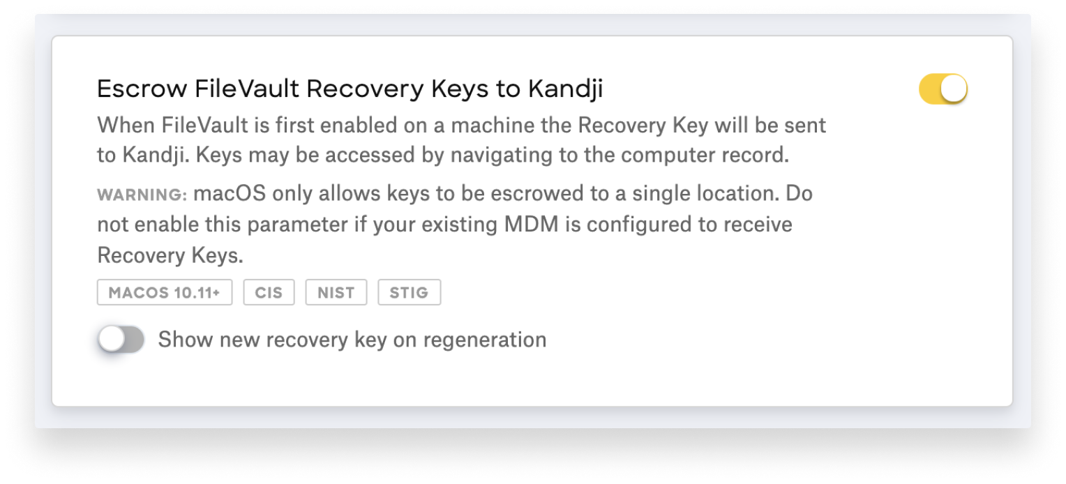 filevault 2 recovery key escrow regeneration