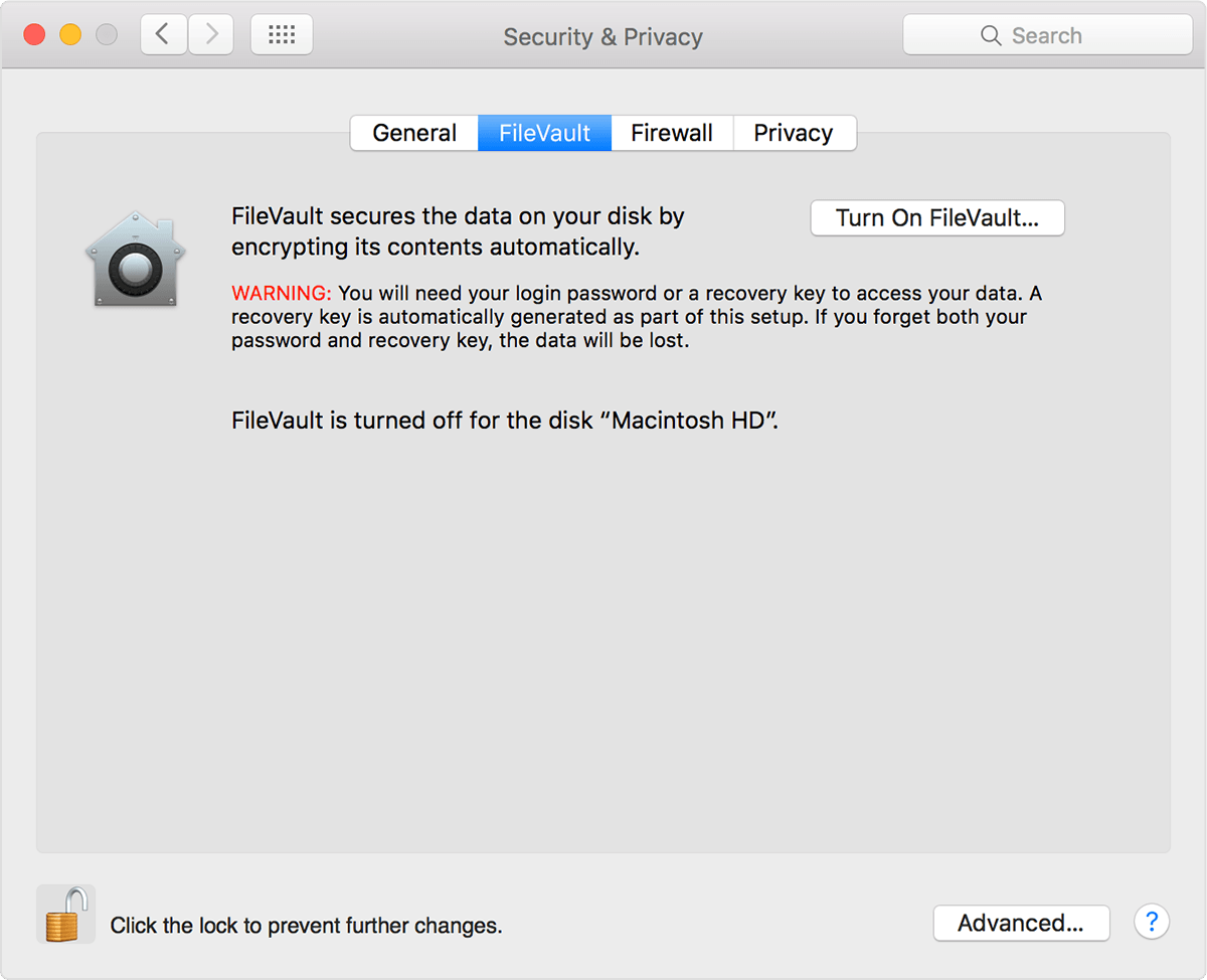 filevault recovery key management