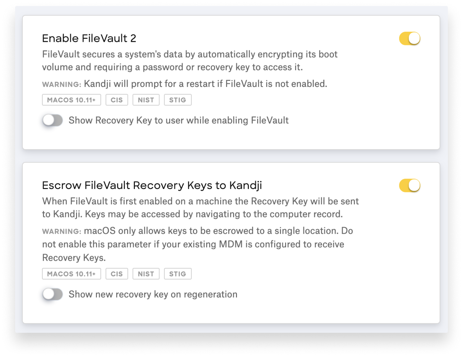 hide filevault 2 recovery key