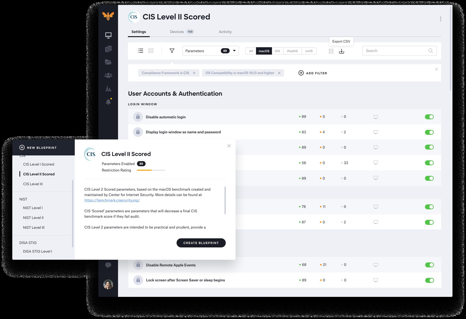 kandji cis macos benchmark template checklist