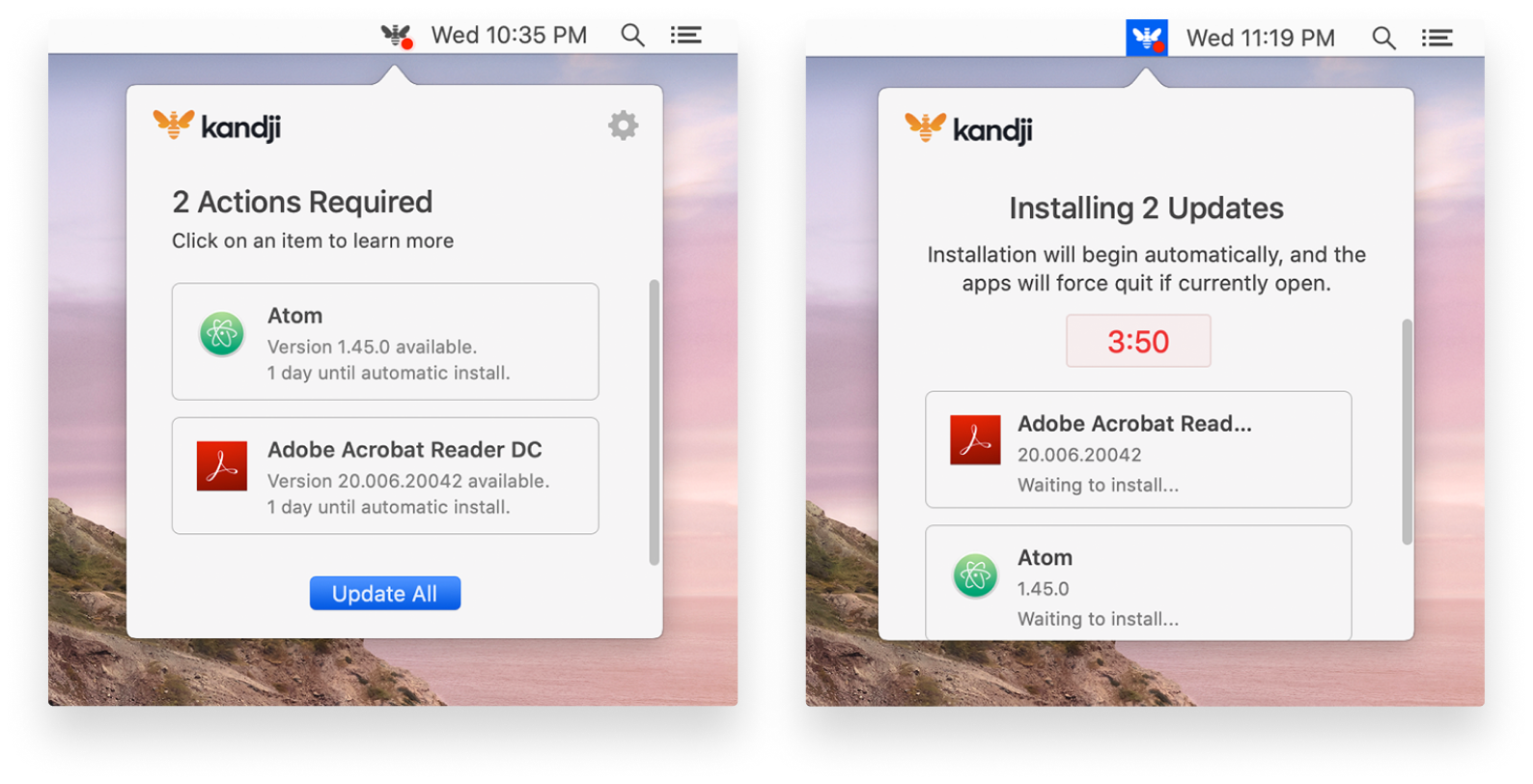 kandji mac patch management auto apps user experience-1