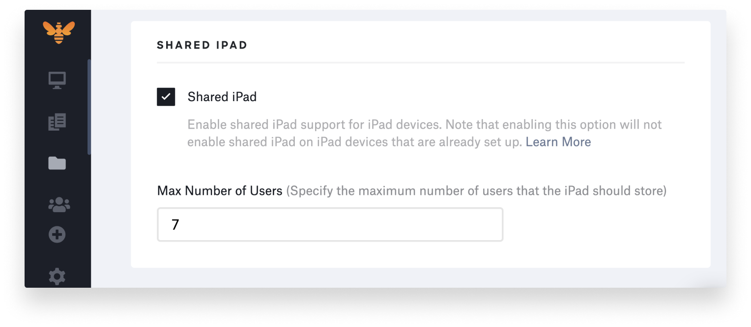 kandji shared ipad max number of users managed apple ids-1