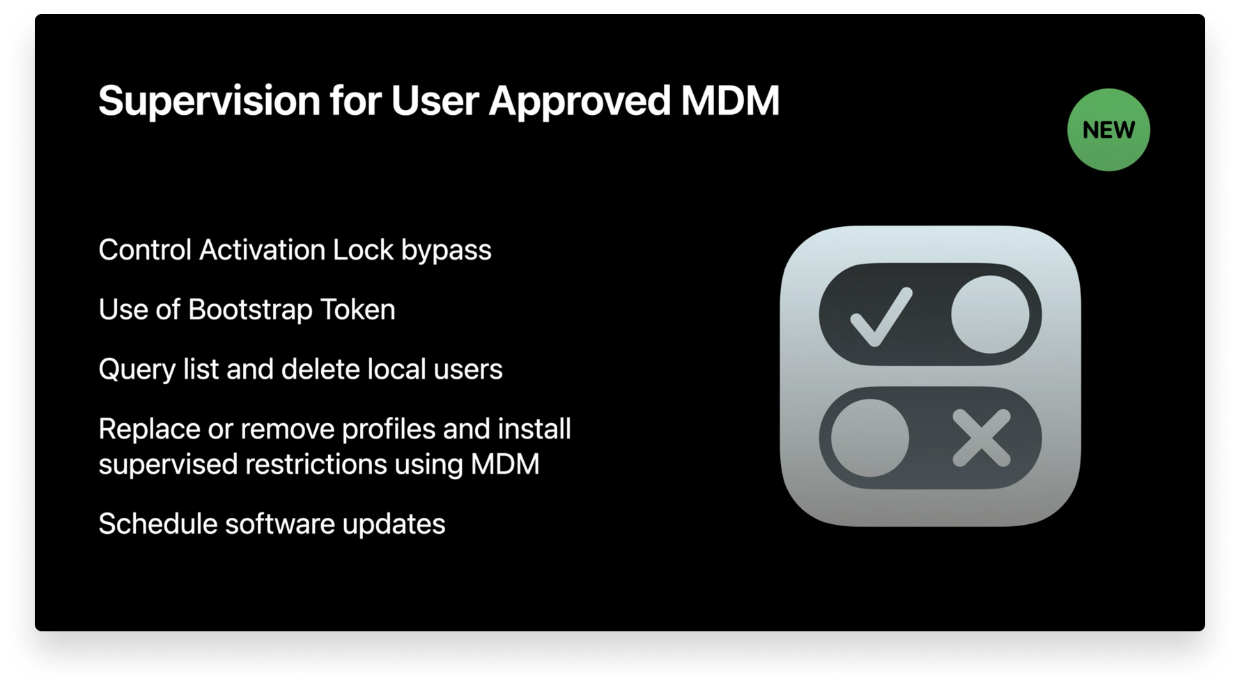 supervision for user approved mdm