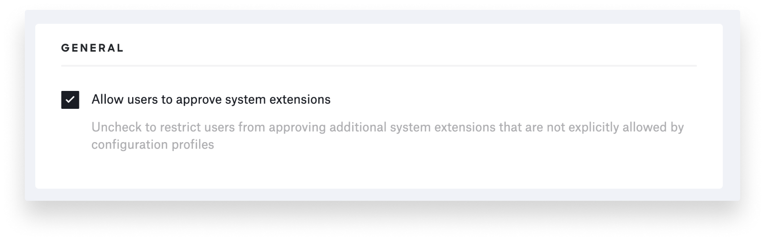 system extensios allow users to approve