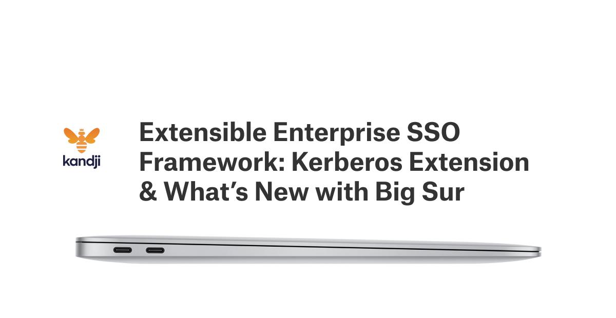 kerberos extension active directory big sur