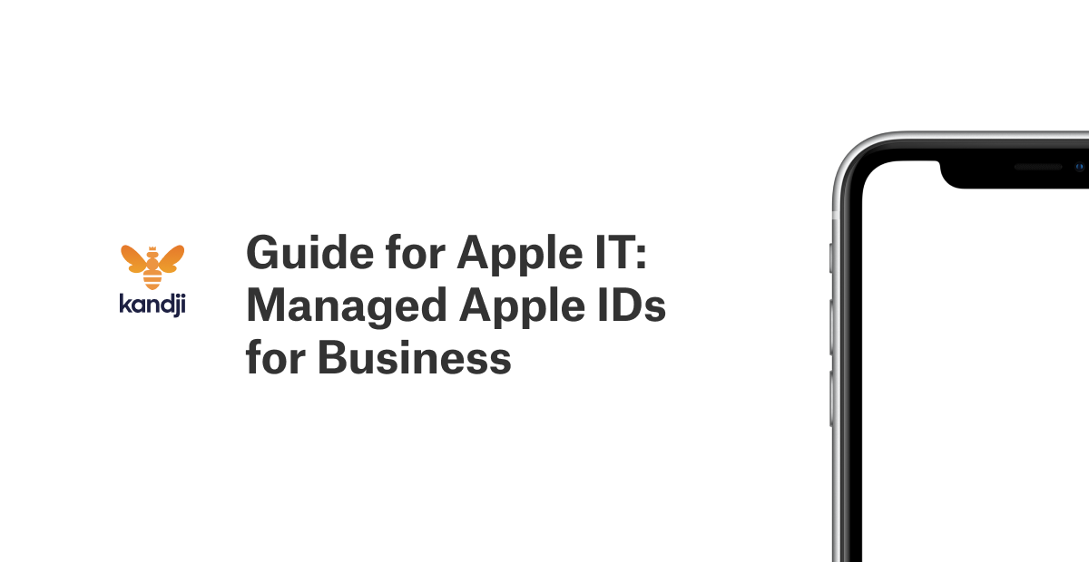 guide for apple IT managed apple IDs for business