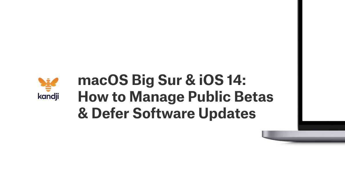 macOS Big Sur & iOS 14: How to Manage Public Betas & Defer Software Updates